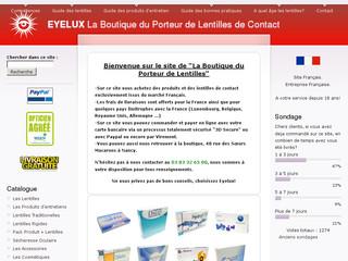 Eyelux lentilles de contact pas cher