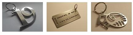 porte-clé inox pour hôtel