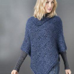 poncho en laine plassard